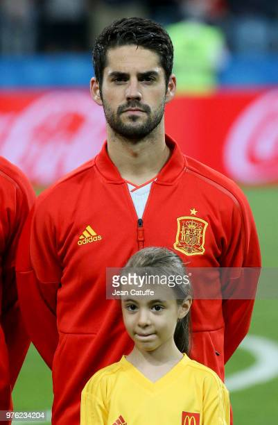 Isco of Spain poses before the 2018 FIFA World Cup Russia group B match between Portugal and Spain at Fisht Stadium on June 15 2018 in Sochi Russia