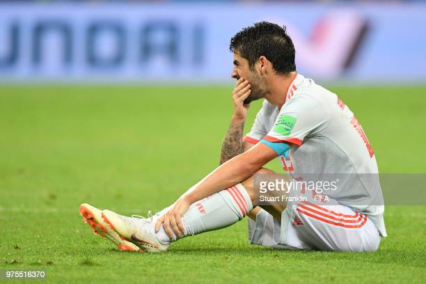 Isco of Spain reacts during the 2018 FIFA World Cup Russia group B match between Portugal and Spain at Fisht Stadium on June 15 2018 in Sochi Russia