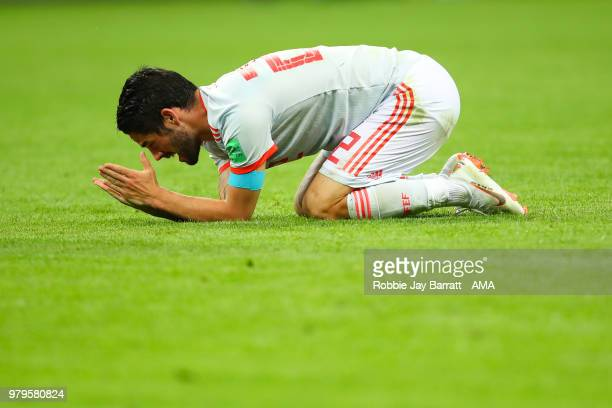 Isco of Spain reacts during the 2018 FIFA World Cup Russia group B match between Iran and Spain at Kazan Arena on June 20 2018 in Kazan Russia