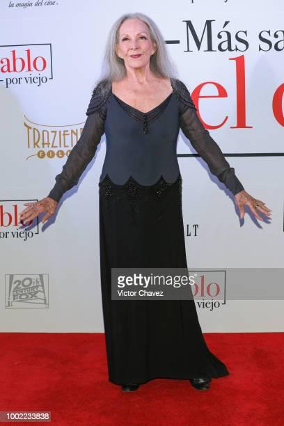 Isela Vega attends Mas Sabe El Diablo Por Viejo premiere at Cinemex Antara Polanco on July 19 2018 in Mexico City Mexico