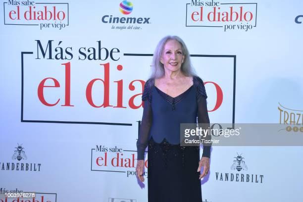 Isela Vega poses for photos during the red carpet of the movie 'Mas Sabe El Diablo por Viejo' at Cinemex Antara Polanco on July 19 2018 in Mexico...