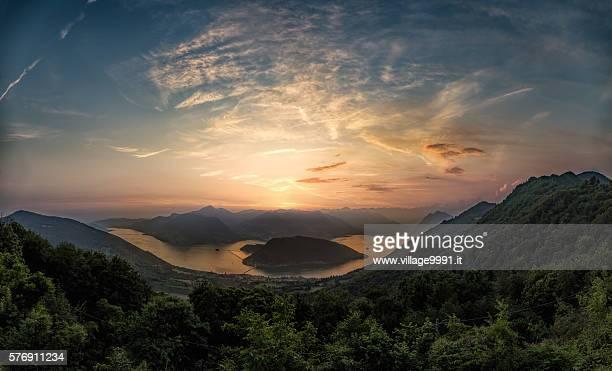 Iseo Lake Sunset