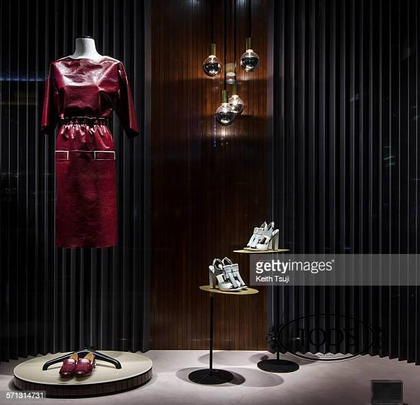 Isetan - Tokyo, window display 2014 as Part of the World Fashion Window Displays on February 19, 2014 in Tokyo, Japan.