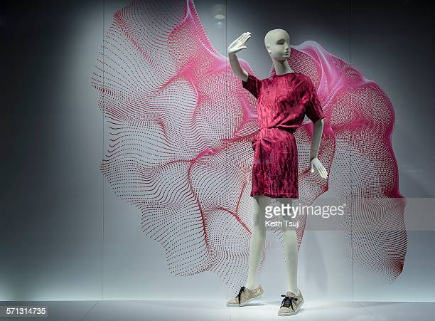 Isetan - Tokyo, window display 2014 as Part of the World Fashion Window Displays on March 4, 2014 in Tokyo, Japan.