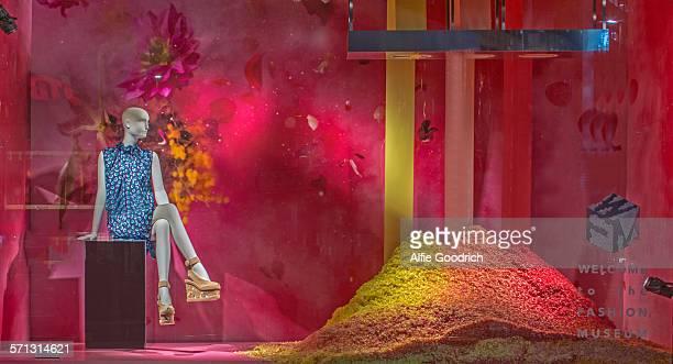 Isetan - Tokyo, window display 2015 as Part of the World Fashion Window Displays on March 13, 2015 in Tokyo, Japan.