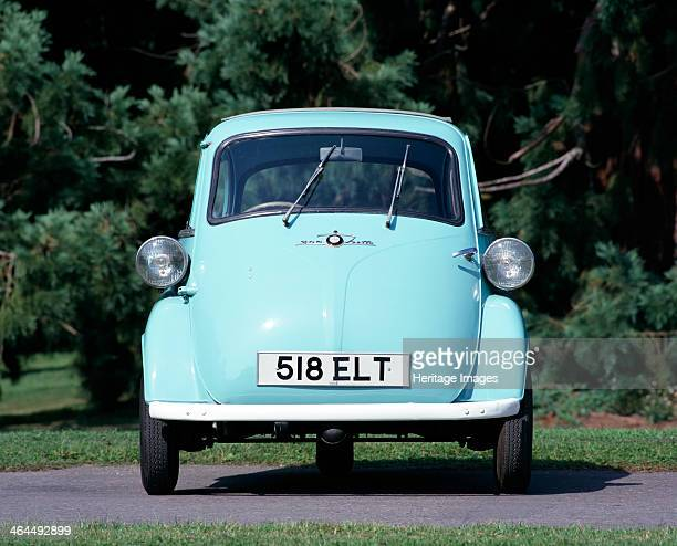 Isetta 300 Super Plus car. European post-war austerity, combined with the Suez Crisis of 1956, led to a petrol shortage and increased the popularity...