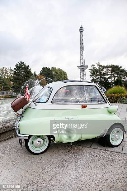 Isetta seen at the Motorworld Classics Oldtimer Car Show on October 8 2016 in Berlin Germany