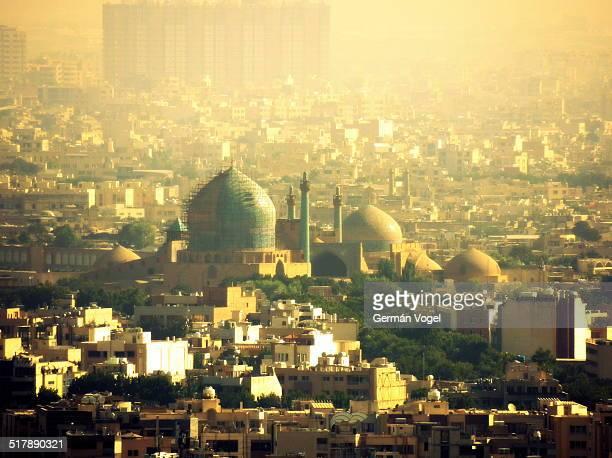 Isfahan skyline and Imam mosque