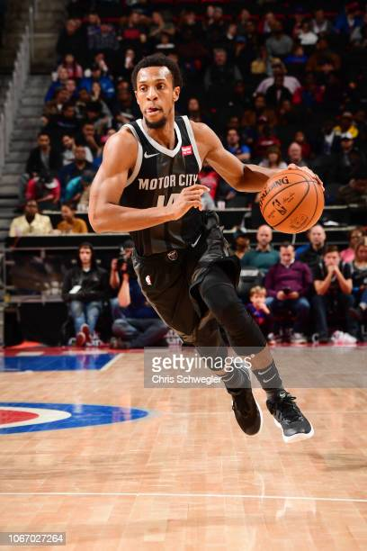 Ish Smith of the Detroit Pistons drives to the basket against the Chicago Bulls on November 30 2018 at Little Caesars Arena in Detroit Michigan NOTE...