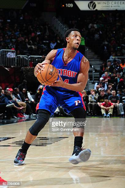 Ish Smith of the Detroit Pistons handles the ball against the Atlanta Hawks on December 2 2016 at Philips Arena in Atlanta Georgia NOTE TO USER User...