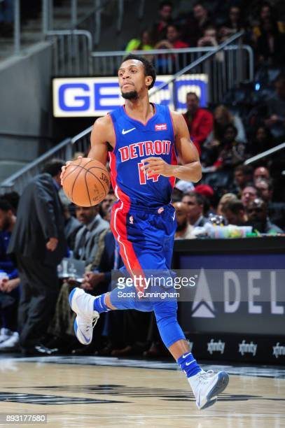 Ish Smith of the Detroit Pistons handles the ball against the Atlanta Hawks on December 14 2017 at Philips Arena in Atlanta Georgia NOTE TO USER User...