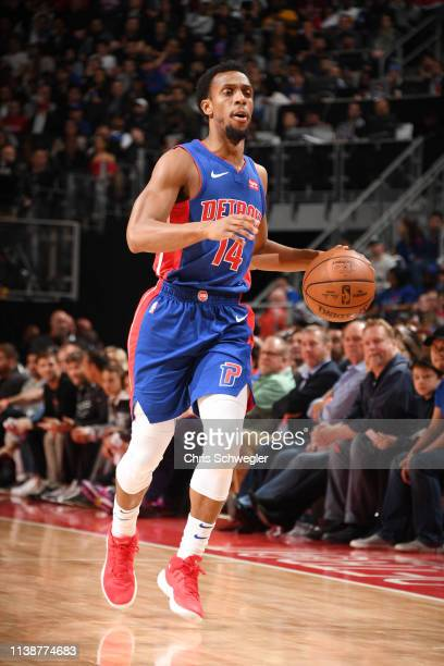 Ish Smith of the Detroit Pistons handles the ball against the Milwaukee Bucks during Game Four of Round One of the 2019 NBA Playoffs on April 22 2019...