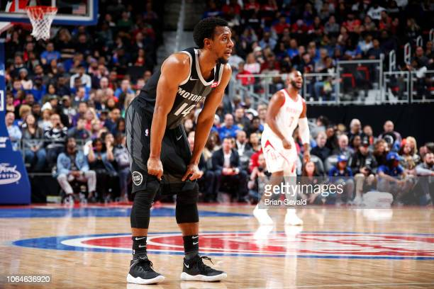 Ish Smith of the Detroit Pistons looks on during the game against the Houston Rockets on November 23 2018 at Little Caesars Arena in Detroit Michigan...