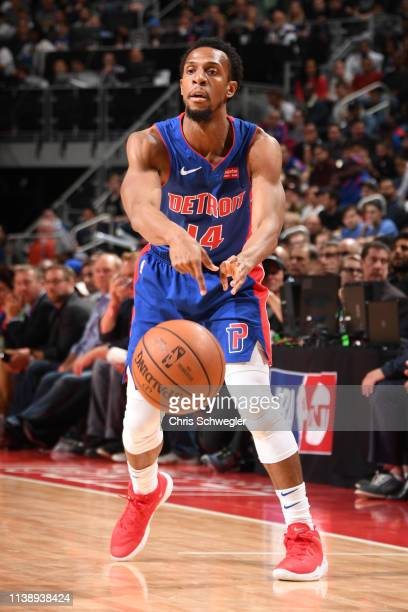 Ish Smith of the Detroit Pistons passes the ball against the Milwaukee Bucks during Game Four of Round One of the 2019 NBA Playoffs on April 22 2019...