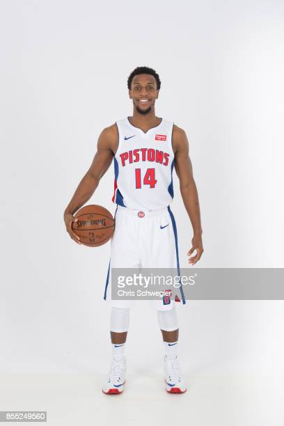 Ish Smith of the Detroit Pistons poses for a portrait during Media Day on September 25 2017 at the Little Caesars Arena Detroit MI NOTE TO USER User...