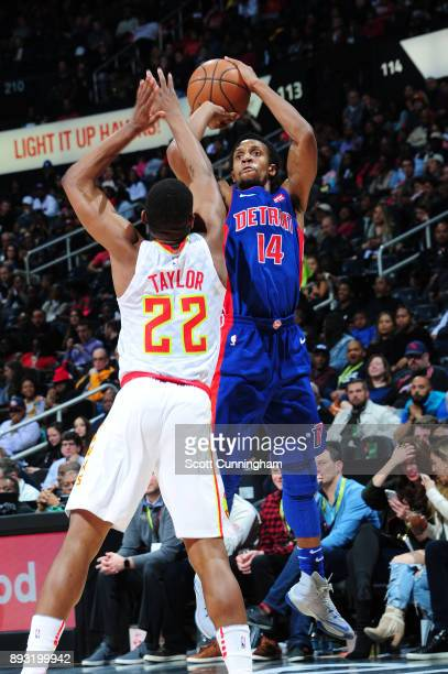 Ish Smith of the Detroit Pistons shoots the ball against the Atlanta Hawks on December 14 2017 at Philips Arena in Atlanta Georgia NOTE TO USER User...