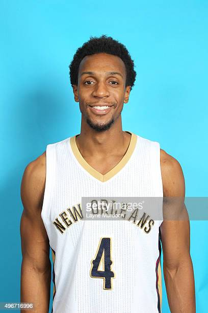 Ish Smith of the New Orleans Pelicans poses for a head shot on November 10 2015 at the Smoothie King Center in New Orleans Louisiana NOTE TO USER...