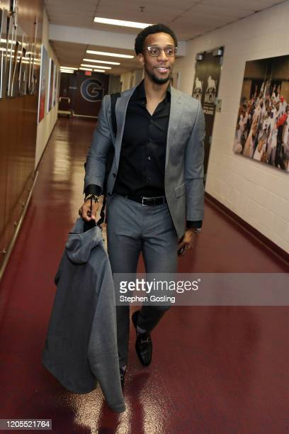 Ish Smith of the Washington Wizards arrives to the game against the Atlanta Hawks on March 6 2020 at Capital One Arena in Washington DC NOTE TO USER...