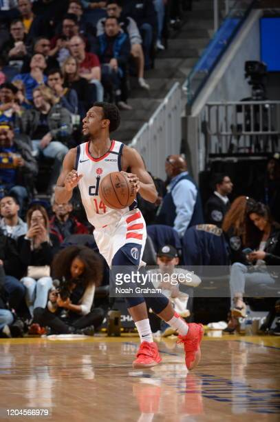 Ish Smith of the Washington Wizards handles the ball against the Golden State Warriors on March 1 2020 at Chase Center in San Francisco California...