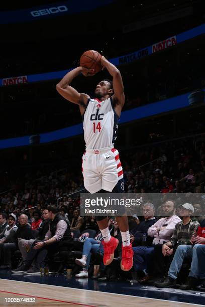 Ish Smith of the Washington Wizards shoots a threepointer against the Brooklyn Nets on February 26 2020 at Capital One Arena in Washington DC NOTE TO...