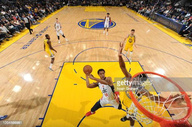 Ish Smith of the Washington Wizards shoots the ball against the Golden State Warriors on March 1 2020 at Chase Center in San Francisco California...