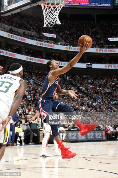 Ish Smith of the Washington Wizards shoots the ball against the Utah Jazz on February 28 2020 at vivintSmartHome Arena in Salt Lake City Utah NOTE TO...