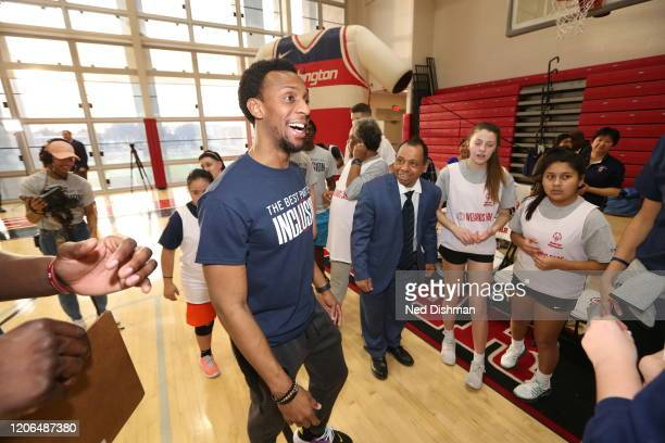 Ish Smith of the Washington Wizards smiles during a Special Olympics game with DC area residents on March 9 2020 in Washington DC NOTE TO USER User...
