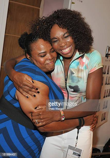 Isha Price and Venus Williams attend EleVen by Venus Williams S/S 2013 presentation behind the Grey Goose Blue Door on September 12 2012 in New York...