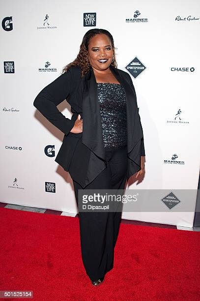 Isha Price attends the 2015 Sports Illustrated Sportsperson of the Year Ceremony at Pier Sixty at Chelsea Piers on December 15 2015 in New York City