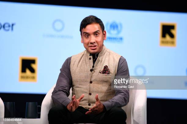 Ishaan Tharoor, Foreign Affairs Writer, Washington Post, speaks onstage during the 2021 Concordia Annual Summit - Day 3 at Sheraton New York on...