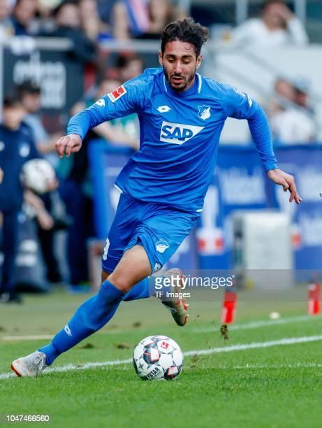 Ishak Belfodil of Hoffenheim controls the ball during the Bundesliga match between TSG 1899 Hoffenheim and Eintracht Frankfurt at Wirsol...