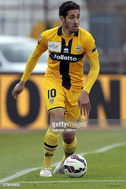Ishak Belfodil of Parma FC in action during the Serie A match between Empoli FC and Parma FC at Stadio Carlo Castellani on April 19 2015 in Empoli...