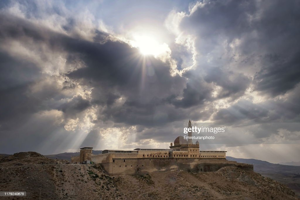 Ishak Pasha mension on a cloudy day,Dogu Bayazit. : Stock Photo