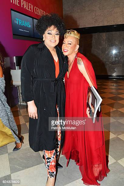 Ishalaa Orteja and Bamby Salcedo attend the HBO Documentary Films New York Premiere of 'The Trans List' at The Paley Center for Media on November 17...
