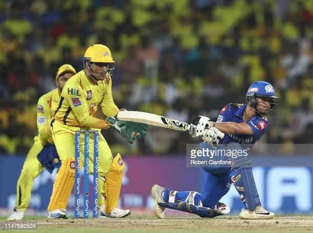 Ishan Kishan of the Mumbai Indians bats during the India Premier League IPL Qualifier Final match between the Mumbai Indians and the Chennai Super...