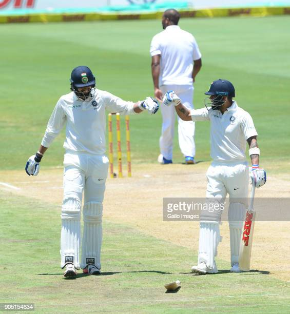 Ishant Sharma and Virat Kohli of India during day 3 of the 2nd Sunfoil Test match between South Africa and India at SuperSport Park on January 15...