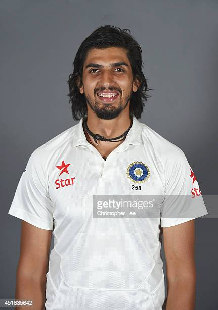 Ishant Sharma of India poses on July 7 2014 in NottinghamEngland