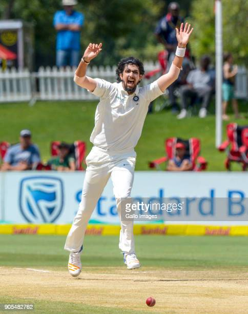 Ishant Sharma of India reacts during day 4 of the 2nd Sunfoil Test match between South Africa and India at SuperSport Park on January 16 2018 in...