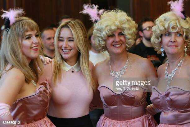 Ishbel actress Amy Shiels who played the character of Candie on Twin Peaks Fluffy and Bridget pose for a photo during the Twin Peaks UK Festival 2017...