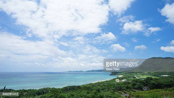 ishigaki island coastline from above, okinawa, japan - ippei naoi stock photos and pictures