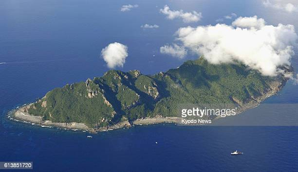 Ishigaki Japan Photo taken from a Kyodo News helicopter shows Uotsuri Island part of the Senkaku Islands in the East China Sea on Sept 2 2012 A Tokyo...