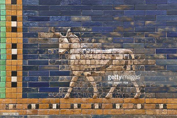 ishtar gate and processional way - ishtar gate stock photos and pictures