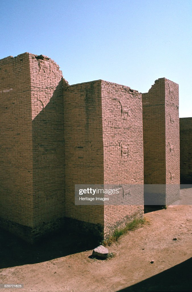 Ishtar Gate, Babylon, Iraq. : News Photo