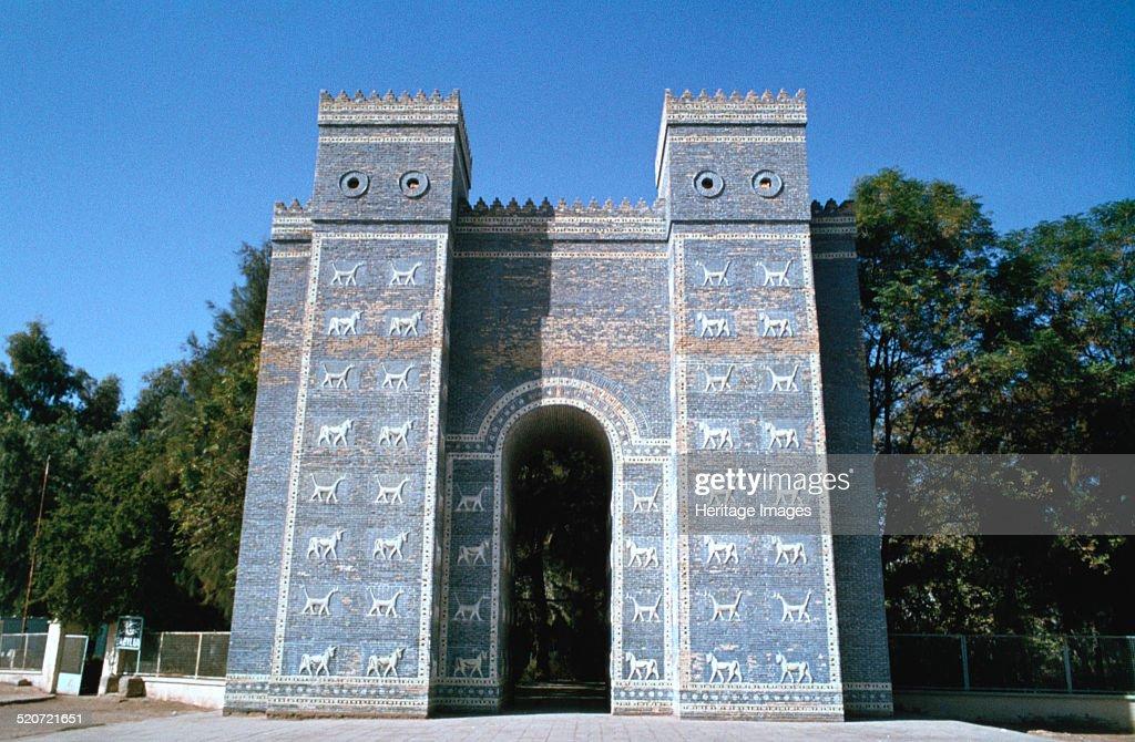 Ishtar Gate, Babylon, Iraq. : News Photo