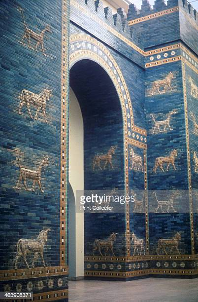 Ishtar Gate Babylonian c575 BC The Ishtar Gate through which a processional road ran into the city of Babylon One of 8 fortified gates of...