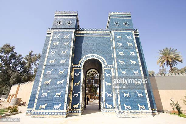 ishtar gate - ishtar gate stock photos and pictures