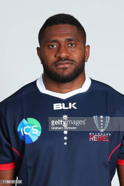 Isi Naisarani of the Rebels poses during the Melbourne Rebels 2020 Super Rugby headshots session on January 08, 2020 in Melbourne, Australia.