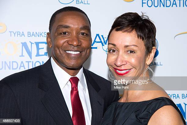 Isiah Thomas and his wife Lynn Kendall attend Tyra Banks' Flawsome Ball 2014 at Cipriani Wall Street on May 6 2014 in New York City