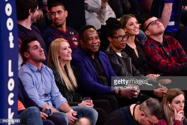 Isiah Whitlock attends New York Knicks vs Detroit Pistons game at Madison Square Garden on March 31 2018 in New York City