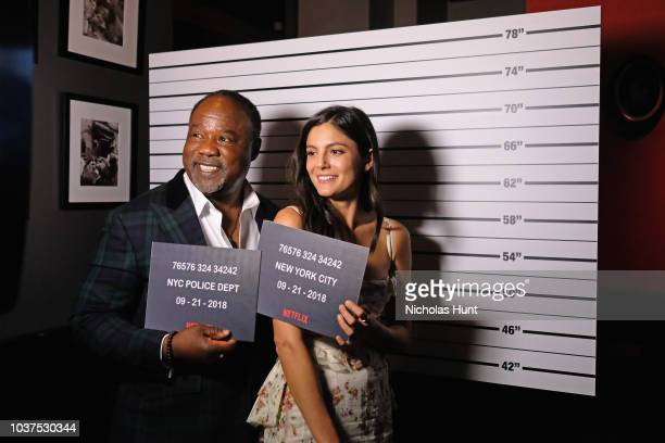 Isiah Whitlock Jr and Monica Barbaro attend the after party for the New York Premiere of Netflix's Original Series The Good Cop at Casa Nonna on...